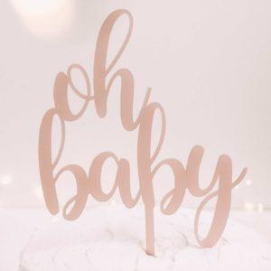 Caketopper; Frau Kopfkino; Tortenstecker; Hochzeitstorte; Cake topper; Topper; Torte; Tortendekoration; Gold; Rosegold; Roségold,Acryl, Babyparty; Geburtstag; Schwangerschaft; Baby; Taufe