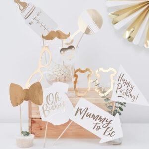 Frau Kopfkino; Boho; gold; goldene Dekoration; Taufe; Babyparty; Taufe; Dekoration Babyparty; Babyshower; oh Baby; Babyparty; Schwanger; Babyshower; Dekoration Babyparty; Dekoration Taufe; Photobooth; Mommy to be; Fotobox; Fotobox Requisiten