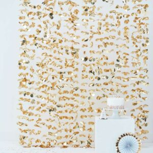 Frau Kopfkino; Hochzeitsdekoration; Verlobung; Hochzeit; Liebe;Boho; Bohowedding; DIY Hochzeit; Boho; Bohohochzeit; gold; Girlande; Blättergirlande; gold; goldene Dekoration;Raumdekoration Hochzeit; Hochzeitsdekoration; Taufe; Babyparty; Gartenparty; Vorhang; Backdrop; Photobooth; Photobackdrop; Blütenvorhang